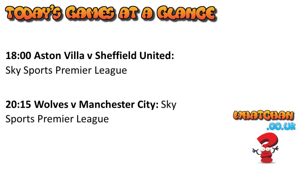 Premier League Games at a Glance 21/9/2020