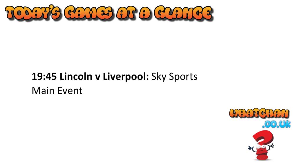 Lincoln v Liverpool