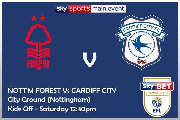 Nottingham Forest v Cardiff (Championship) - Sky Sports Main Event