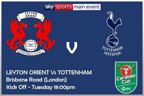 Carabao Cup 22/9/2020 - Leyton Orient v Tottenham