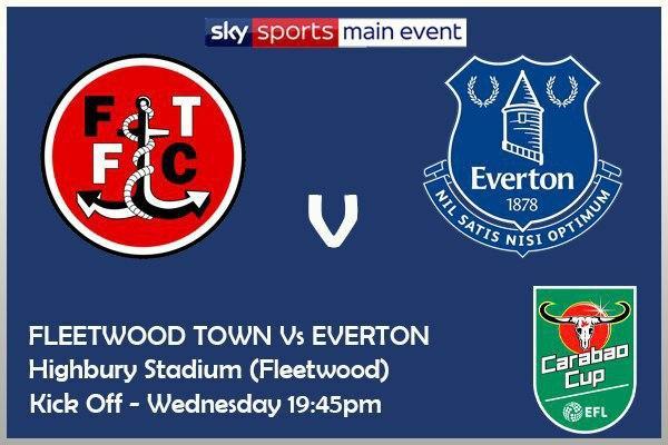 Carabao Cup - 23/9/2020 Fleetwood Town v Everton
