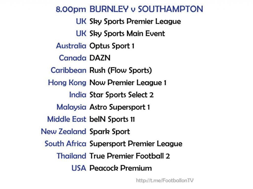 Premier League - 26/9/2020 - Burnley v Southampton