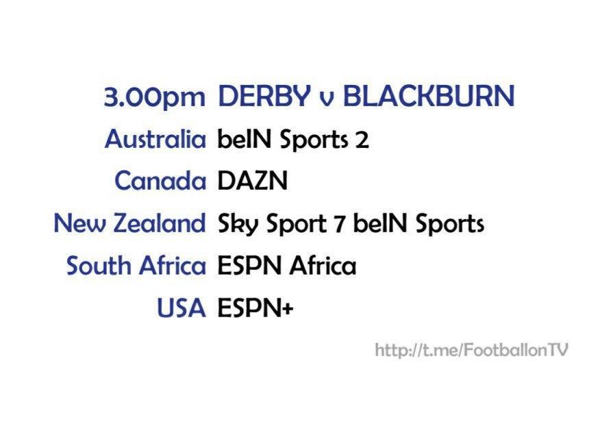 Championship 26/9/2020 - Derby v Blackburn