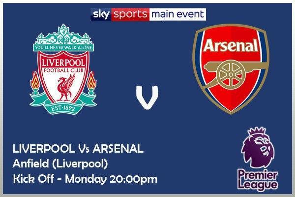 Premier League 28/9/20 - Liverpool v Arsenal