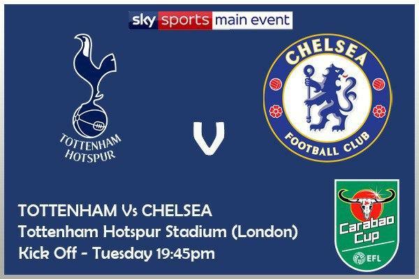 Carabao Cup 29/9/20 Tottenham v Chelsea