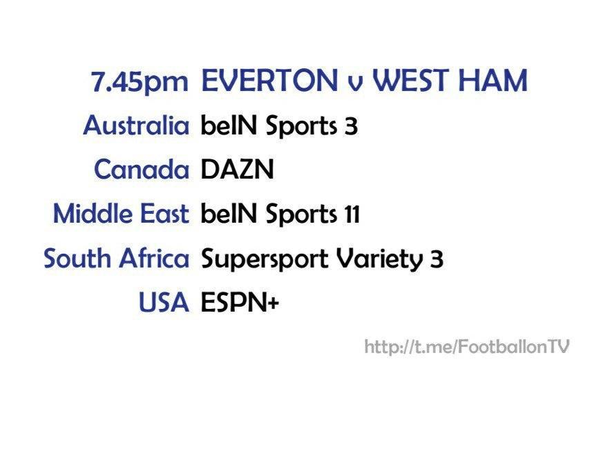 Carabao Cup 30/9/20 Everton v West Ham United