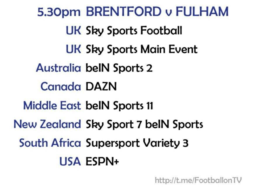 Carabao Cup 1/10/20 Brentford v Fulham