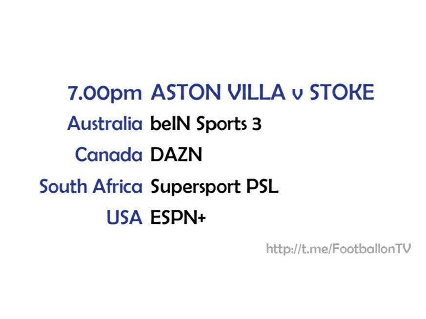 Carabao Cup 1/10/20 Aston Villa v Stoke
