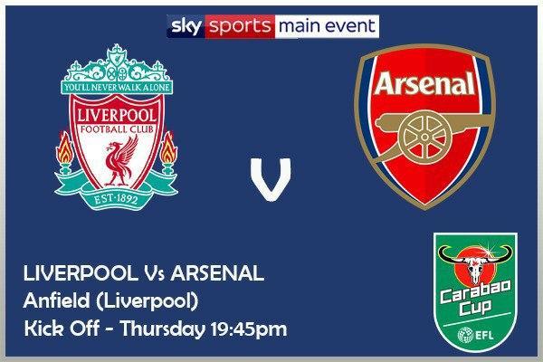Carabao Cup 1/10/20 Liverpool v Arsenal