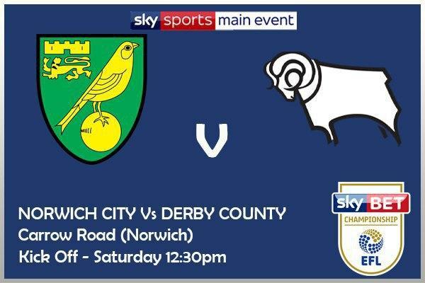 Championship 3/10/20 Norwich v Derby
