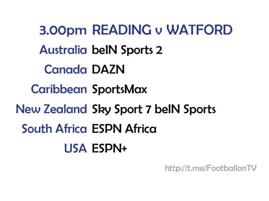 Championship 3/10/20 Reading v Watford