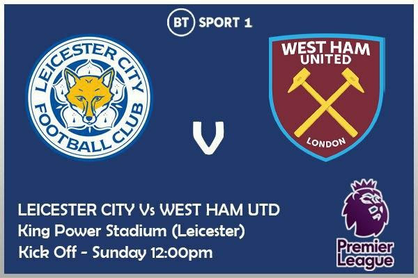 Premier League 4/10/20 Leicester City v West Ham