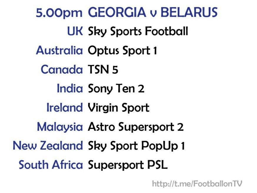 EURO 2020 fixtures - Georgia v Belarus