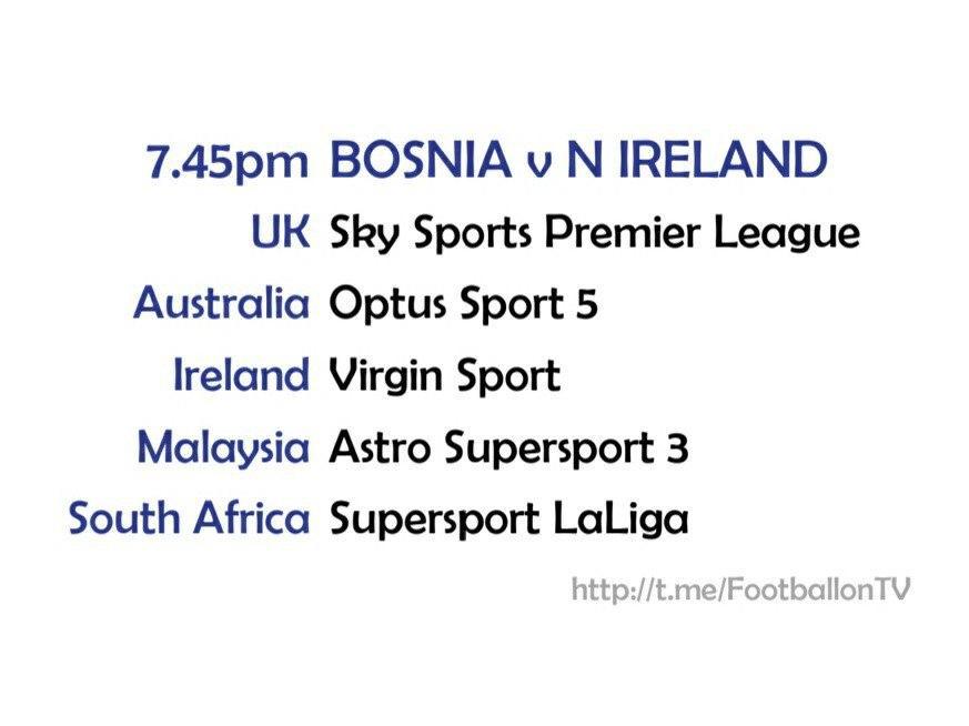 EURO 2020 fixtures - Bosnia v Northern Ireland