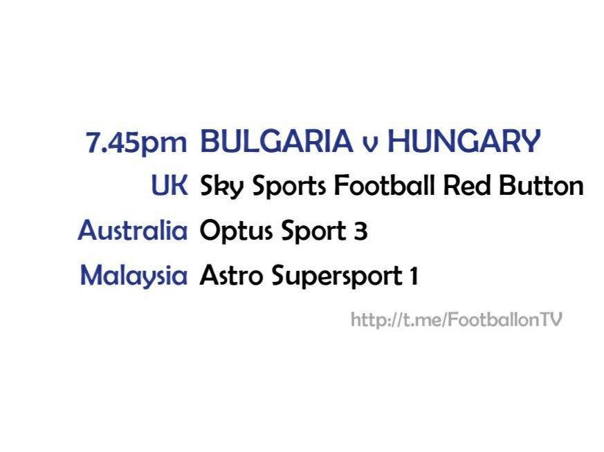 EURO 2020 fixtures - Bulgaria v Hungary