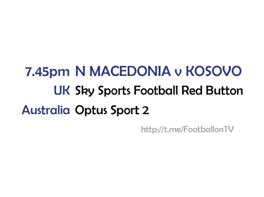 EURO 2020 fixtures - N Macedonia v Kosovo