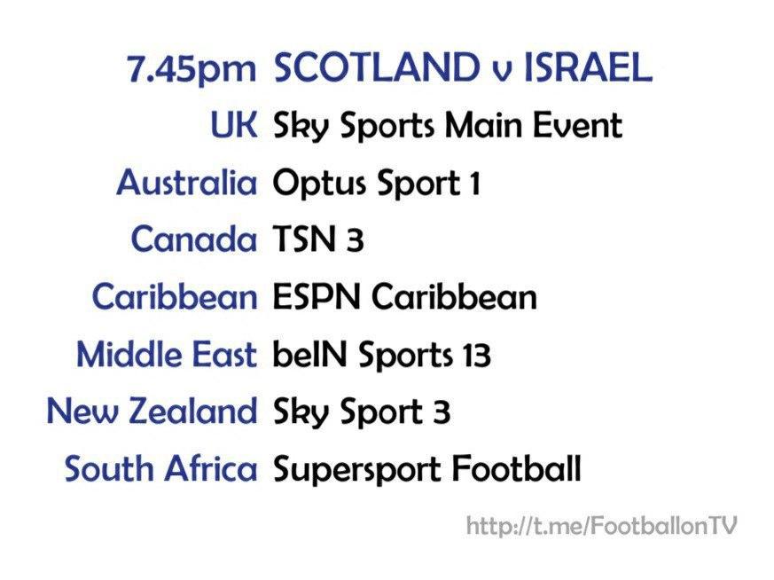 EURO 2020 fixtures - Scotland v Israel