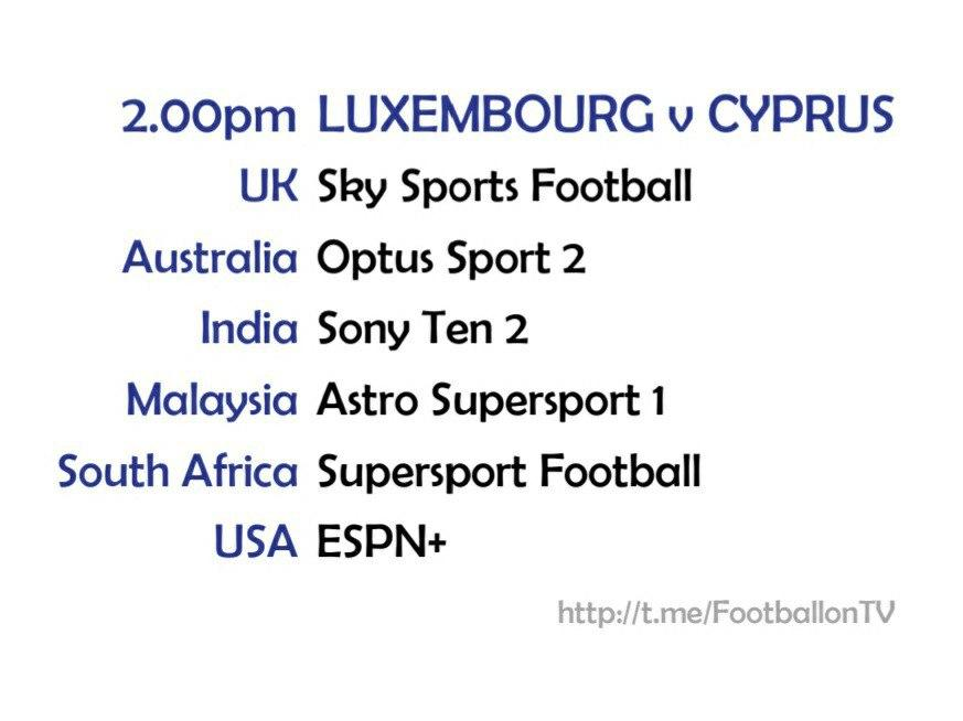 UEFA Nations League 10/10/20 - Luxembourg v Cyprus