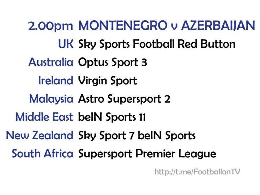UEFA Nations League 10/10/20 - Montenegro v Azerbaijan