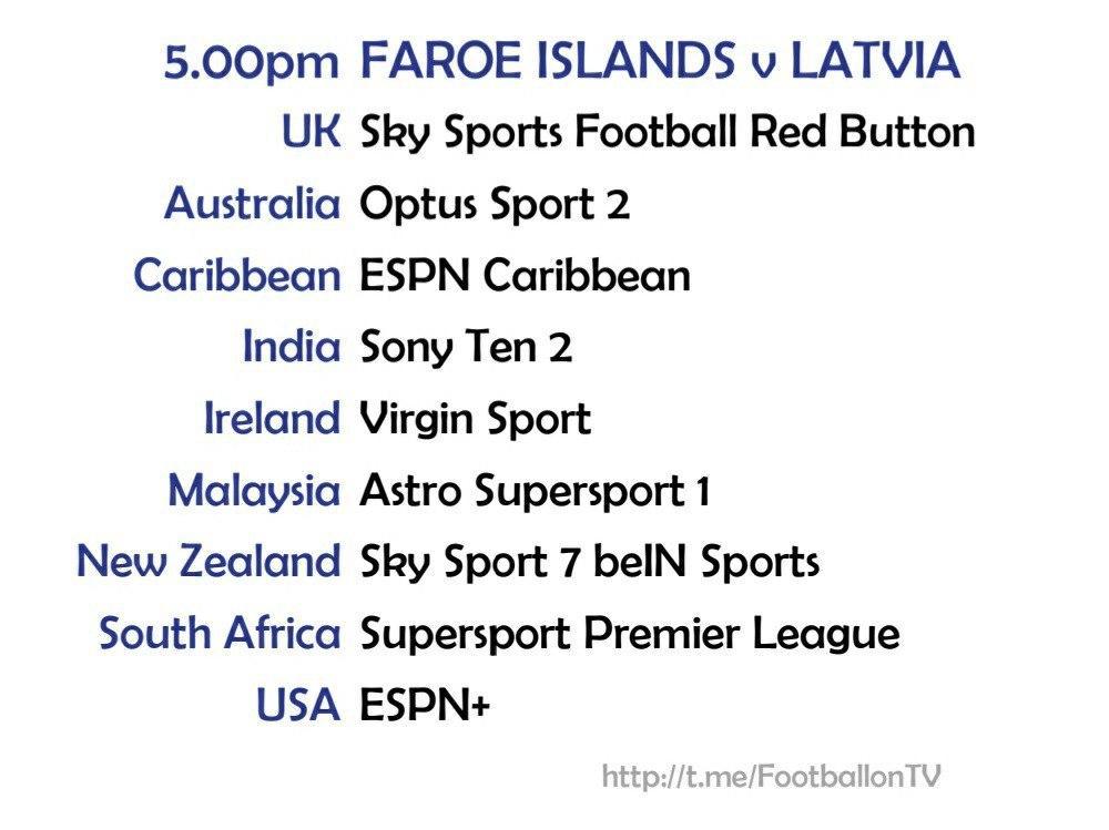 UEFA Nations League 10/10/20 - Faroe Islands v Latvia