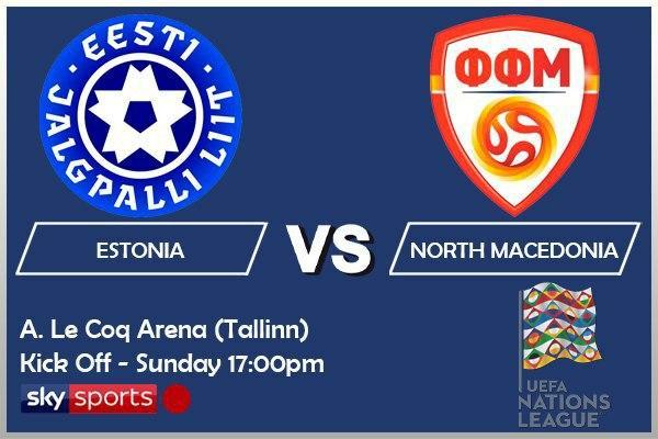 UEFA Nations League 11-10-20 - Estonia v North Macedonia