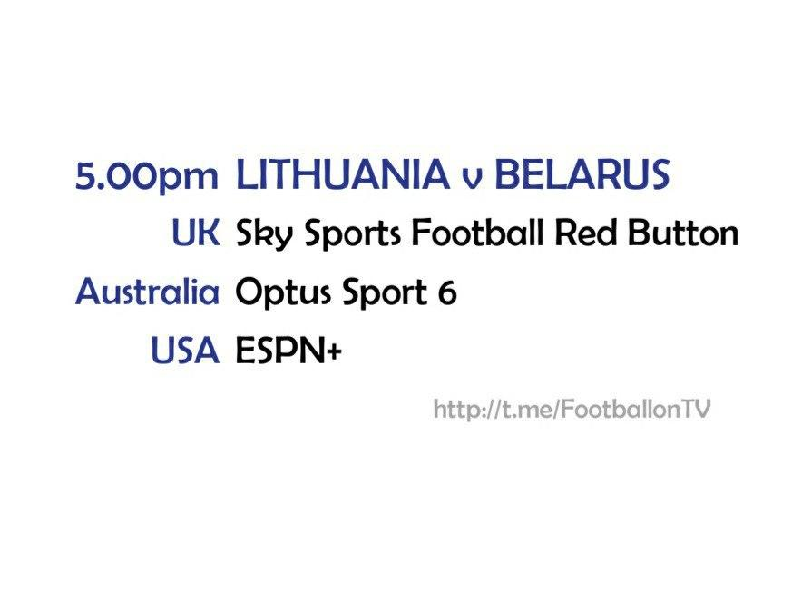 UEFA Nations League 11-10-20 - Lithuania v Belarus