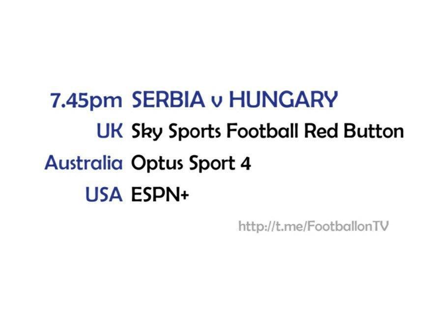 UEFA Nations League 11-10-20 - Serbia v Hungary