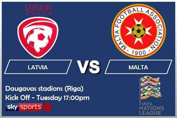 UEFA Nations League 13-10-20 Latvia v Malta