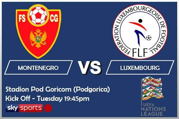 UEFA Nations League 13-10-20 Montenegro v Luxembourg
