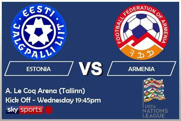 UEFA Nations League 14-10-20 - Estonia v Armenia