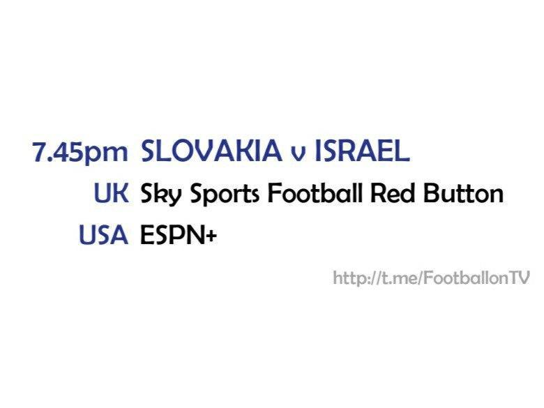 UEFA Nations League 14-10-20 - Slovakia v Israel