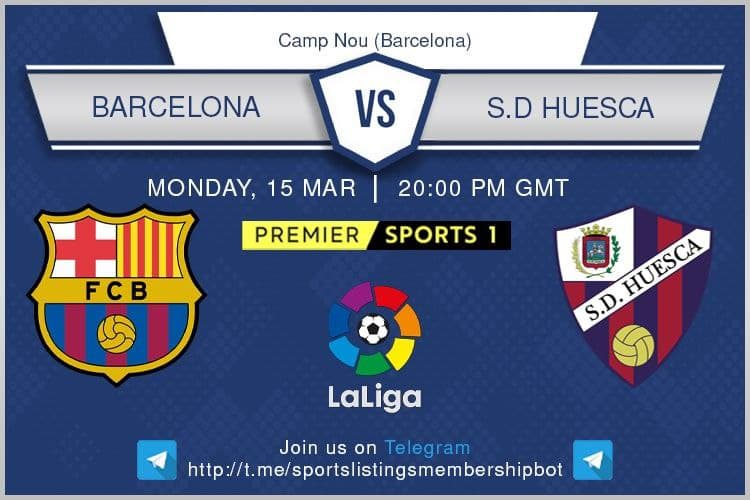 Premier League 15/3/2021 - Barcelona v Huesca - Premier Sports 1 / beIN Sports 2 English