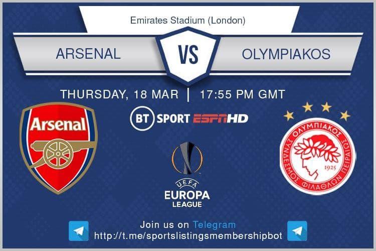 Europa League 18/3/2021 - Arsenal v Olympiakos