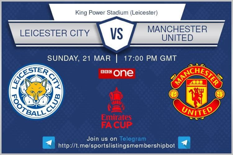 Premier League / FA Cup 21/3/2021 - Leicester City v Manchester United