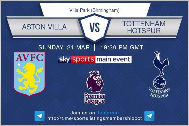 Premier League / FA Cup 21/3/2021 - Aston Villa v Tottenham Hotspur
