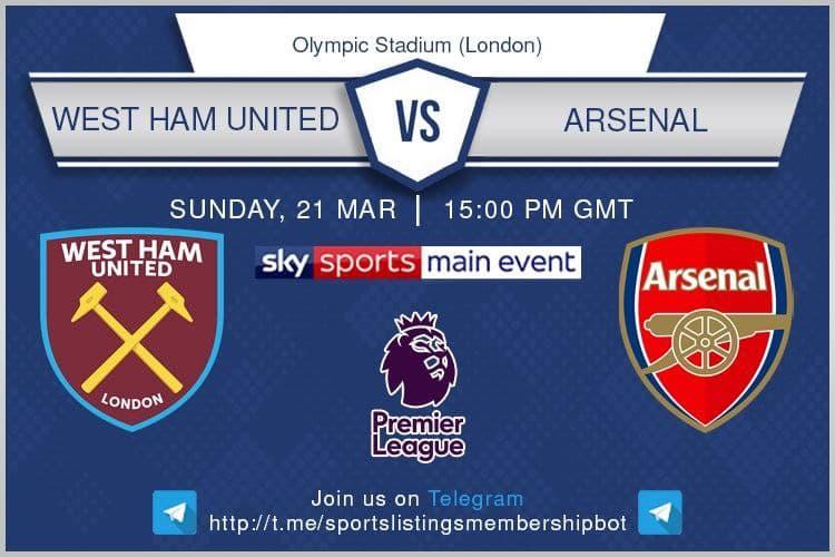 Premier League / FA Cup 21/3/2021 - West Ham v Arsenal