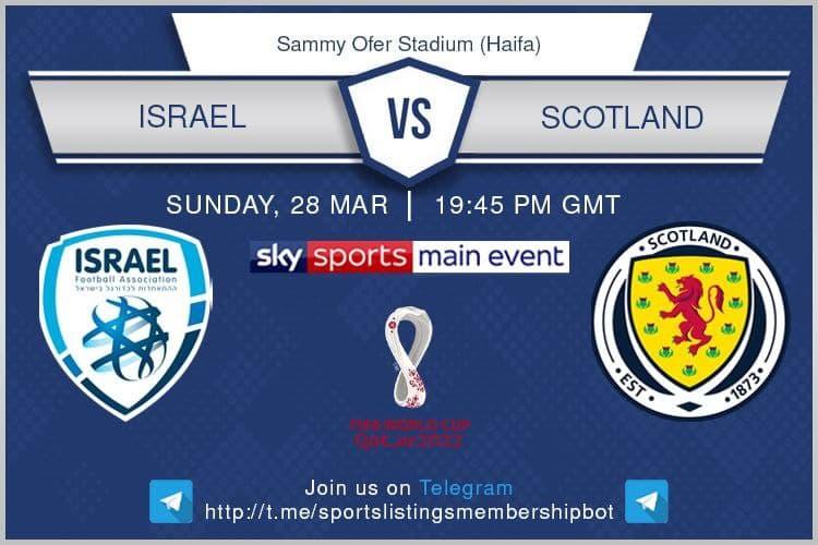 World Cup Qualifiers 28/3/2021 Israel v Scotland