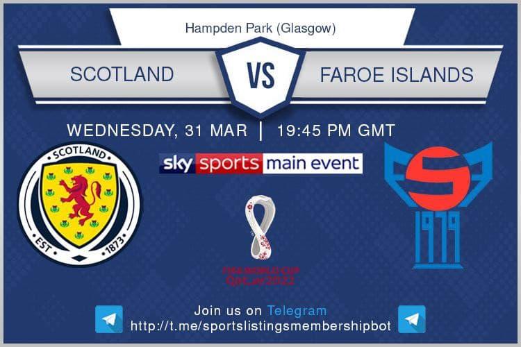 World Cup Qualifiers 31/3/2021 - Scotland v Faroe Islands -