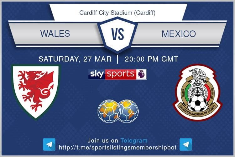 World Cup Qualifiers & Others 27/3/2021 Wales v Mexico