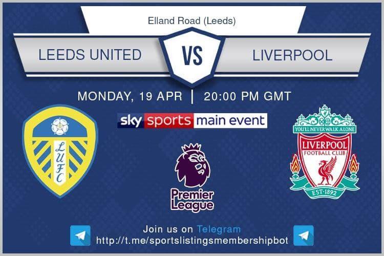 Premier League 19/4/2021 - Leeds United v Liverpool