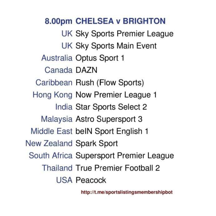Chelsea v Brighton - Chelsea v Brighton