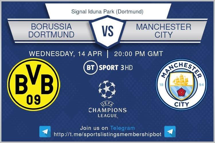 Premier League 14/4/2021 - Borussia Dortmund v Manchester City
