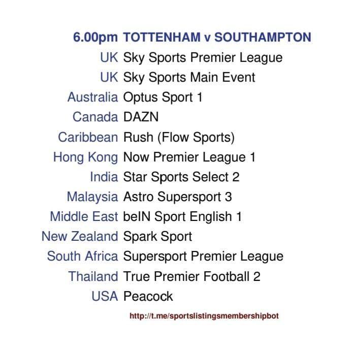 Premier League 21/4/2021 - Tottenham v Southampton detailed