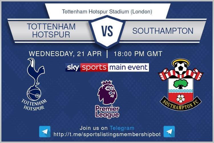 Premier League 21/4/2021 - Tottenham v Southampton