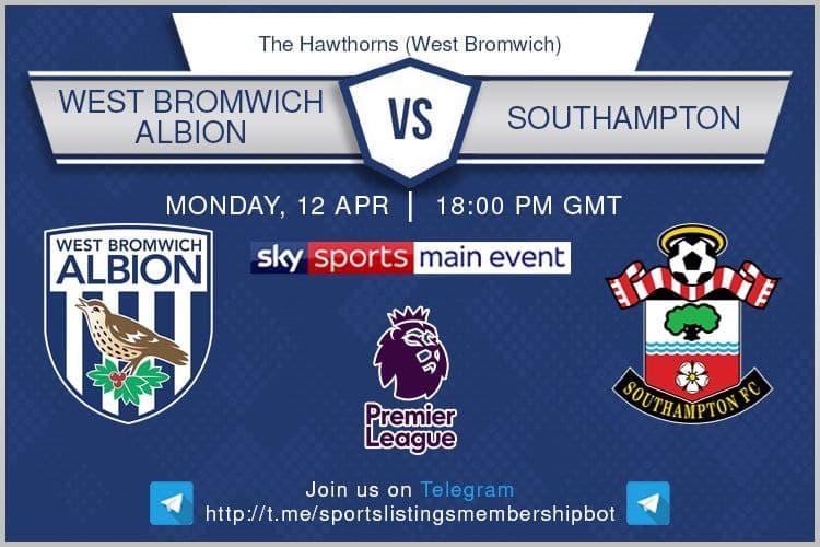 Premier League & Others 12/4/2021 -West Bromwich Albion v Southampton