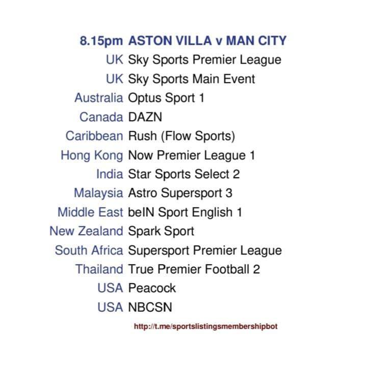 Premier League 21/4/2021 - Aston Villa v Manchester City detailed