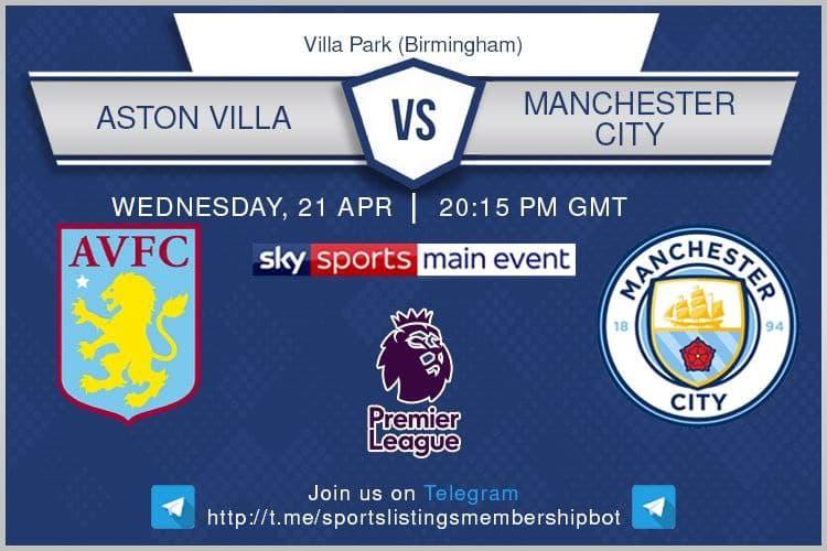 Premier League 21/4/2021 - Aston Villa v Manchester City