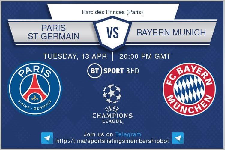 Champions League 13/4/2021 - PSG v Bayern Munich