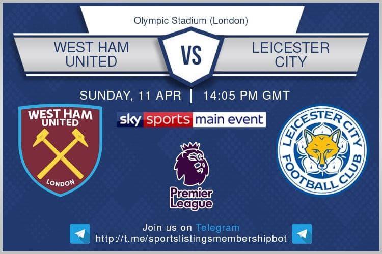 Premier League & Others 11/4/2021 - West Ham United v Leicester City