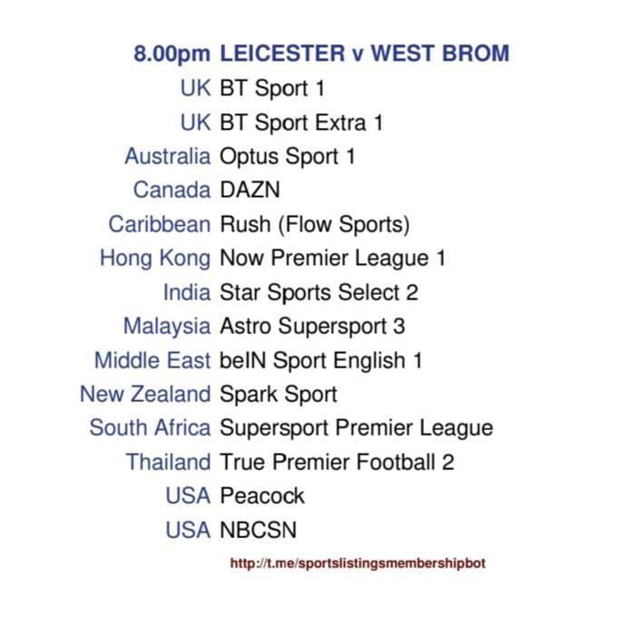Premier League 22/4/2021 - Leicester v West Bromwich Albion Detailed